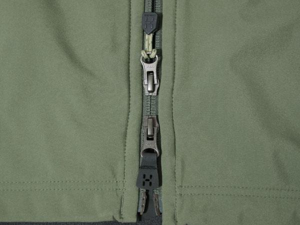 Haglofs Tropo Q Jacket フロントジッパー
