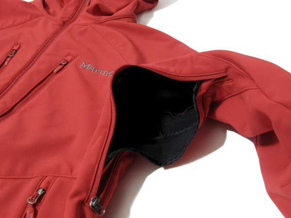 Marmot Duke Jacket ベンチレーション