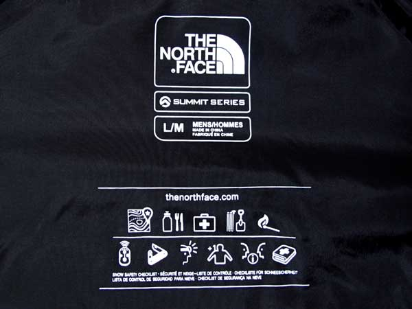 The North Face - Powder Guide Vest 表記