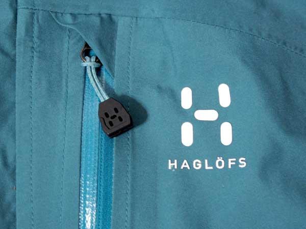 Haglofs Topo Q Jacket 左胸のホグロフスのロゴマーク